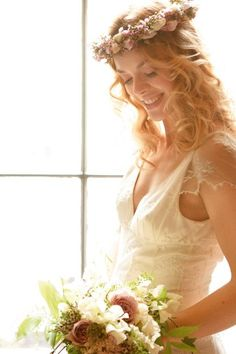 Go all bohemian with a flower crown. Once big in the '80s, they're coming back into wedding fashion - honest!