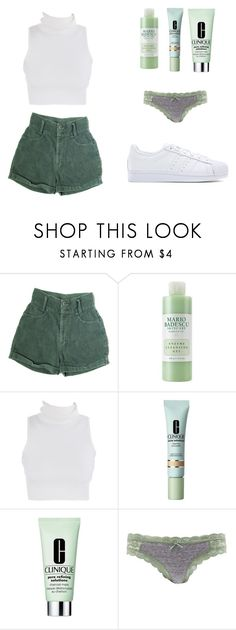 """Sin título #187"" by marta589 on Polyvore featuring moda, Mario Badescu Skin Care, Clinique, Charlotte Russe y adidas Originals"