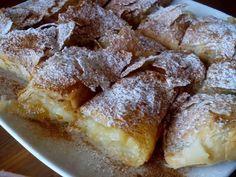 Greek Sweets, Greek Desserts, Greek Recipes, Sweet Buns, Sweet Pie, Cookbook Recipes, Dessert Recipes, Cooking Recipes, Greek Cooking
