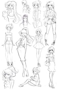 How To Draw Disney Hair Disney high sketchdump 3 by