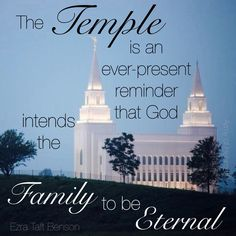 The family can be eternal! Families are so amazing! God has created the whole idea of families and he knows that we can get so much strength from them!