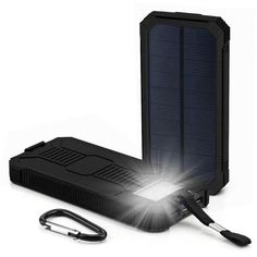 Portable Solar Power Bank External Backup Battery Charger