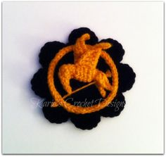 HUNGER GAMES Mockingjay Bird Crocheted Flower by KariesCrochetDesigns on etsy