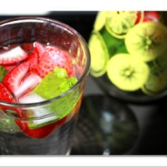 #waterwednesday - strawberries and mint in a vintage Pyrex jug make for summertime treat!