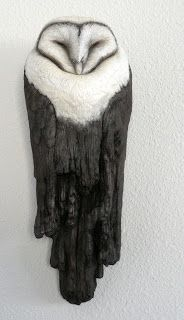 LeeAnne Hale Art - owl sculpture Pinned by www.myowlbarn.com