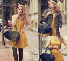 Yellow Dress (by Faustine  Lara) http://lookbook.nu/look/4044928-Yellow-Dress