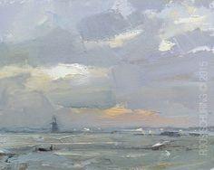 Morning Frost and Sunrise - http://rosepleinair.com/morning-frost-and-sunrise/ #painting #pleinair