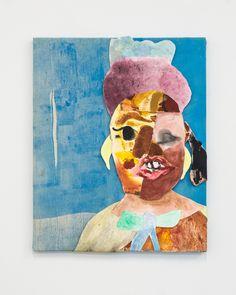 """Tschabalala Self, Lil Mama, 2013, 16"""" x 20"""", Oil and collage on canvas http://tschabalalaself.com/ http://tschabalala.tumblr.com/ tschabalala@gmail.com"""