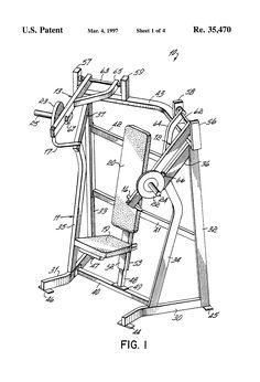 Patente USRE35470 - Incline press exercise machine - Patentes do Google