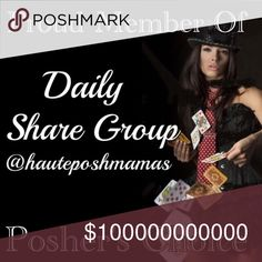 """Proud Member of Posher's Choice daily share group! We are a """"Posher's Choice"""" (choose the category you want shared) daily share group, open to all compliant closets! There are daily listings for sign up in the @hauteposhmamas share closet. All you have to do is tag your closet name, and category you want shared & share 10 items from each closet signed up in their chosen category. Hostess are Katie @forever_chic & Marisa @mcknight820 ♠️♥️♦️♣️ *A @hauteposhmamas share closet share group* Other"""