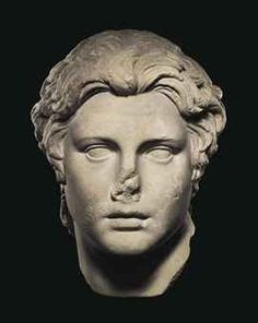 A ROMAN MARBLE PORTRAIT OF ALEXANDER THE GREAT