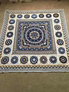 Dandelion Mandala & Circles of the Sun squares #MandalaCrochetPatterns