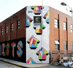 Above New Mural In London, UK #above #streetart