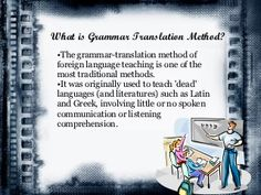Grammar Translation Method: Description, history and example of a lesson using this method. Foreign Language Teaching, Teaching Grammar, First Language, Teaching English, What Is Grammar, English Grammar Rules, English Grammar Worksheets, Comprehension Questions, Reading Comprehension