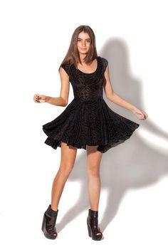 """burnt velvet """"evil cheerleader"""" dress // black milk"""