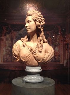 Bust of Elisabeth Louise Vigee le Brun by sculptor Augustin Pajou, at the National Gallery of Canada, summer 2016.