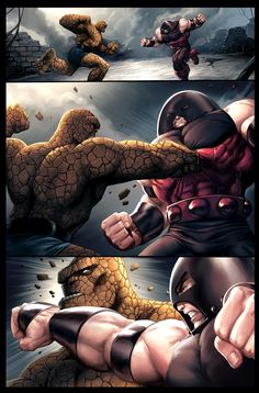 Hulk vs Juggernaut | Thing vs Juggernaut by JPRart