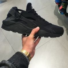 All black Nike Hurache.