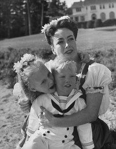 Joan Crawford and children, 1945   Mother's Day Special: LIFE With Famous Moms   LIFE.com
