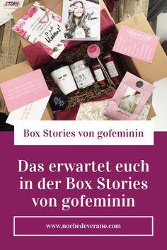 Das erwartet euch in der Box Stories von gofeminin - on beauty, lifestyle oder fashion.  Mein Erfahrungsbericht zur Box Stories