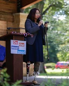 """#TammyDuckworth - """"I think when we talk about people who need a little extra help, I talk with folks about the fact that we're all one bad accident, one bad diagnosis away from potential bankruptcy.""""    On the trail in Illinois she talks about her double amputation, living on food stamps and why she's not worried about GOP attacks..  https://www.theguardian.com/us-news/2016/aug/25/tammy-duckworth-senate-race-illinois-profile?CMP=Share_iOSApp_Other"""