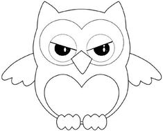Buho enfadado Baby Quilt Patterns, Owl Patterns, Applique Patterns, Angel Coloring Pages, Love Coloring Pages, Classroom Art Projects, Art Classroom, Button Art, Button Crafts