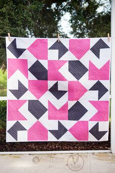 Opposites Attract Quilt Pattern - Available mid September from Meredith of Olivia Jane Handcrafted (You've got mail)