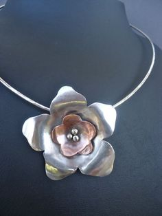 Silver Pendant Flower Pendant Sterling Silver and by AegeanDreams, €40.00