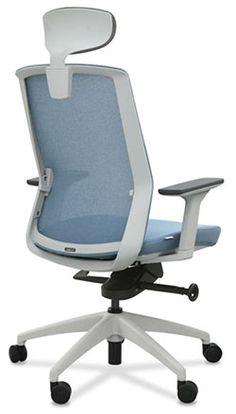 Silla de oficina hi tech con mecanismo sincronizado for Silla oficina hernia discal