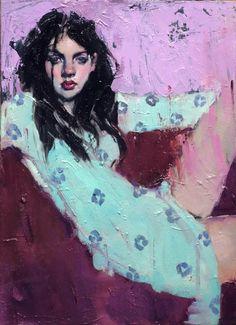 Malcolm T. Liepke, Girl on a Sofa, 2016, Shine Artists | Pontone Gallery