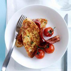 Découvrez la recette Pain perdu salé sur cuisineactuelle.fr.