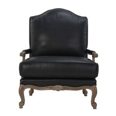 Inviting. Sumptuous. Traditional in feel, with every modern comfort. That's our leather Harris chair. Its serpentine back is echoed in a finely crafted base, cabriole legs, and scrolled feet. Add a plush loose-back pillow to this updated beauty (and a matching ottoman) and you have something like heaven. Harris is also available in a wide selection of fabrics.