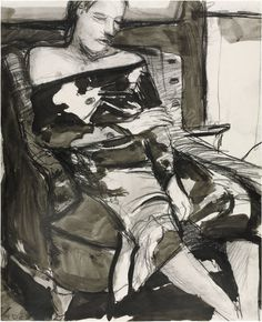 Richard Diebenkorn, Untitled drawing of seated woman