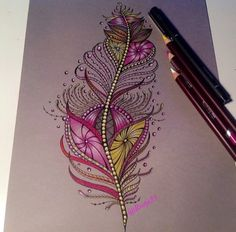 Plume dessin