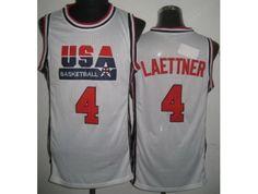 fa29f268b USA Basketball 1992 Olympic Dream Team White Jerseys 4  Christian Laettner