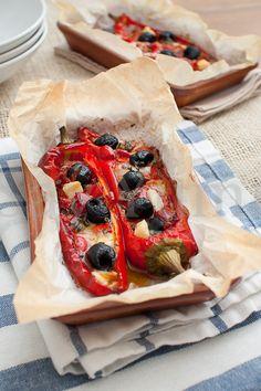 Peperoni ripieni-Ricetta contorno facile