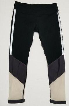 23a428e1d23d9b Fabletics Salar Powerhold Leggings Sz M Black Gray Black Sheer Mesh  #Fabletics #ActivewearLeggings Girl