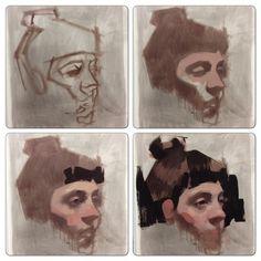 Demo for my class this evening. #allaprima #oilpainting #portraitpainting #portrait #process #art #artsf