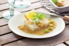 Baked Fish Fillets with Mustard Butter Sauce