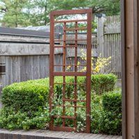 Give leggy flowers and climbing vines somewhere to go with the Coral Coast Halstead Wood Trellis . Craftsman-style construction and style paired with. Metal Pergola, Cheap Pergola, Wooden Pergola, Backyard Pergola, Pergola Kits, Backyard Landscaping, Pergola Ideas, Metal Roof, Curved Pergola