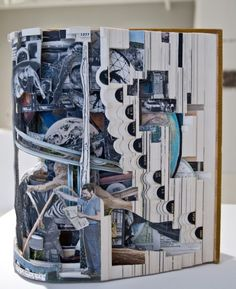 """""""Altered Books"""" / stunning sculptures by Brian Dettmer. photography by Jacob Breinholt for Curated. #sculpture #books"""