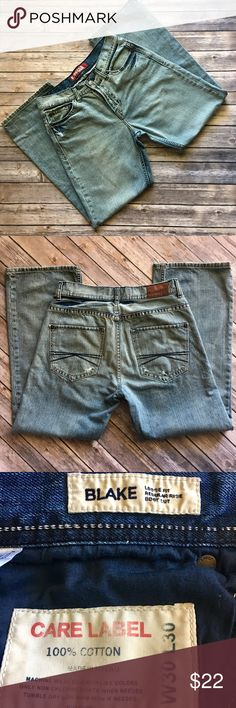 """Express - Men's """"Blake"""" Denim Jeans (30x30) Express - Men's """"Blake"""" (Loose Fit, Regular Rise, Boot Cut, 30x30) Denim Jeans. These jeans are purposefully distressed and in fantastic preowned condition. Please be sure to check out all of my other men's items to bundle and save. Same day or next business day shipping is guaranteed. Reasonable offers will be considered. Express Jeans Bootcut"""