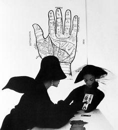 The Tarot Reader. Irving Penn, 1949. Jean Patchett with surrealist artist, Bridget Tichenor, in New York.