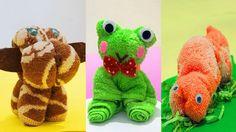 DIY Ideas Washcloth Animal - 6 DIY Crafts for Kids