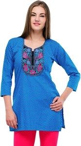Kiala Formal Sleeveless Solid Women's Kurti - Buy Blue Kiala Formal Sleeveless Solid Women's Kurti Online at Best Prices in India | Online Shopping India - Shop Online for Mobile Accessories,Clothing & More at Shoppyzip.com