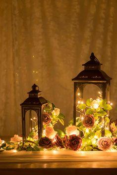 【PRE-MADE item】set of 6 pre-made flower arrangements for around lantern centerpieces. Lantern Centerpiece Wedding, Simple Wedding Centerpieces, Wedding Lanterns, Lanterns Decor, Wedding Table Centerpieces, Diy Wedding Decorations, Vintage Centerpiece Wedding, Wedding Centerpieces With Lanterns, September Wedding Centerpieces