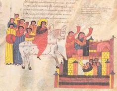 Biblia de San Isidoro de Leon, Biblioteca, Colegiata S. Isidoro, Leon, 960 - Return of David to Jerusalem.