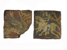 Medieval encaustic Westminster type floor tiles: 14th Century