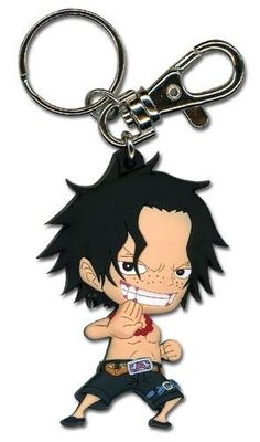 Key Chain - One Piece - New SD Ace Anime Toys Licensed ge36803, Adult Unisex, Multi