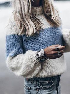 Winter Knitted Sweater Women Fashion Color Block Striped Jumper Pullover Autumn Long Sleeve Streetwear Sweaters Female Plus Size Fluffy Sweater, Mohair Sweater, Pullover Sweaters, Knitting Sweaters, Cardigans, Women's Sweaters, Striped Sweaters, Oversized Sweaters, Mohair Yarn